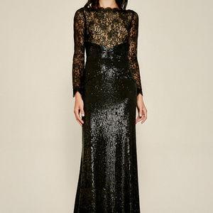 Aquila Lace Sequin Gown
